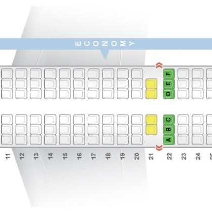 "Seat map Airbus A321-200 ""Air India"". Best seats in the plane"