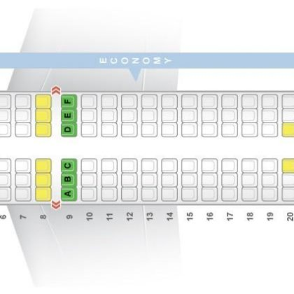 "Seat map Airbus A319-100 ""Air India"". Best seats in the plane"