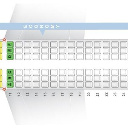 """Seat map Airbus A320-200 """"Air India"""". Best seats in the plane"""