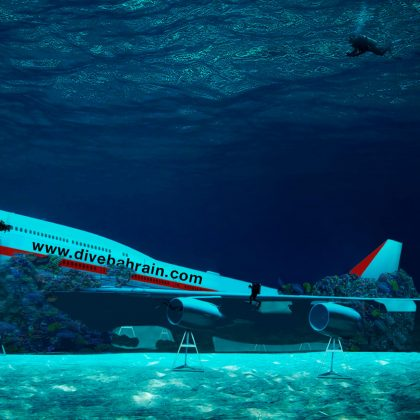 In Bahrain sink Boeing 747 will become adventure of underwater amusement park