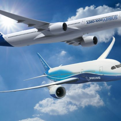 Boeing and Airbus have set records in sales of airplanes