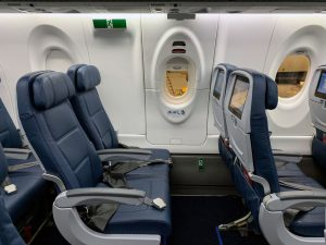 Delta Air Lines Airbus A220 exit row