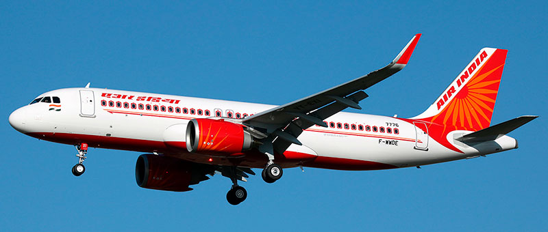 Airbus A320neo Air India. Photos and description of the plane