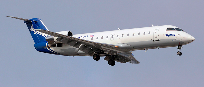 Bombardier CRJ-200 SkyWest. Photos and description of the plane