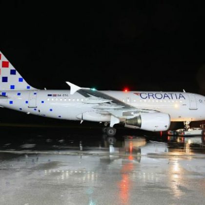 Croatia Airlines renewed livery on the occasion of anniversary