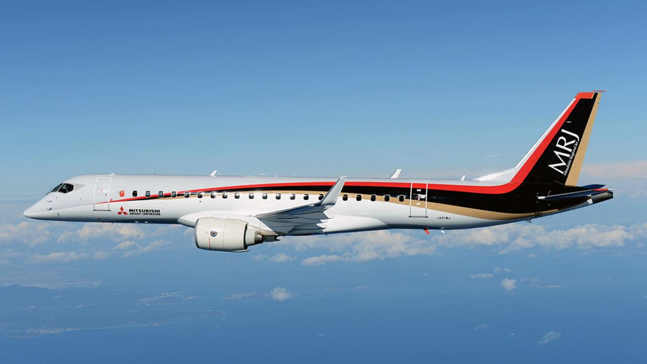 Mass media: in USA were started trials of passenger Japan airplane Mitsubishi Regional Jet