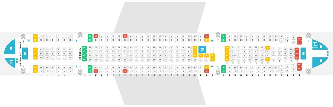 """Seat map Airbus A320-200 """"Thomas Cook"""". Best seats in the plane"""