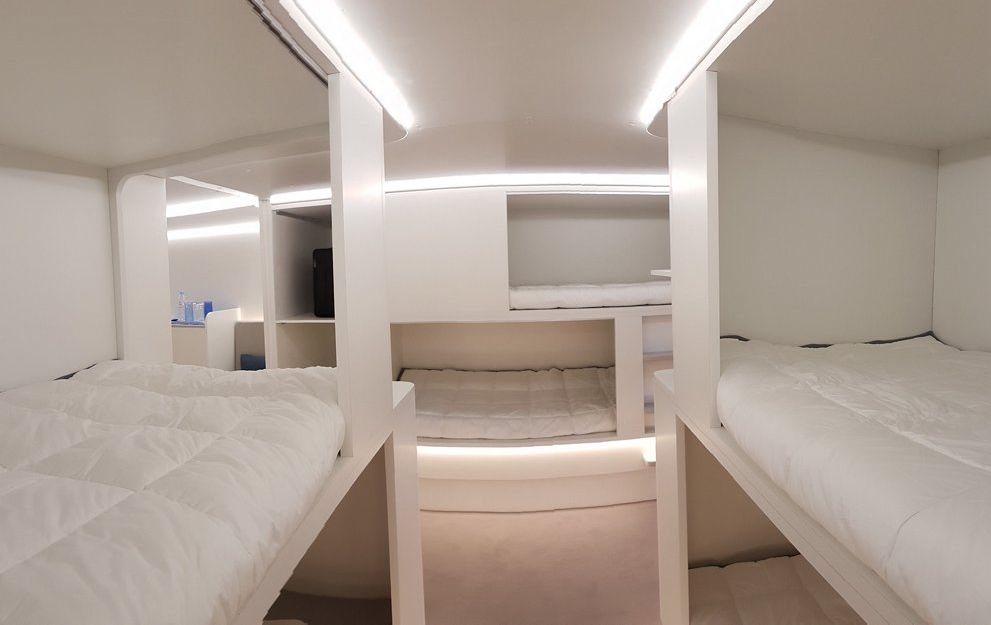 Airbus elaborated system of passengers' accommodation in baggage section of the airplane