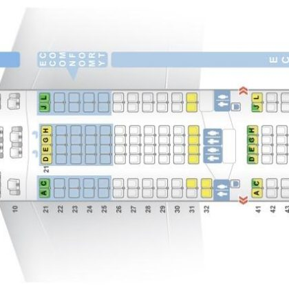 "Seat map Airbus A330-300 ""Finnair"". Best seats in the plane"