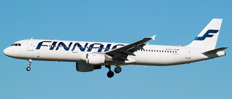 "Seat map Airbus A321-200 ""Finnair"". Best seats in the plane"