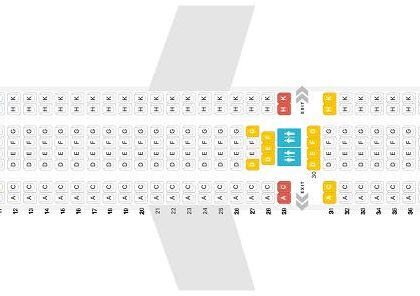 "Seat map Airbus A330-200 ""Jet2Com"". Best seats in the plane"