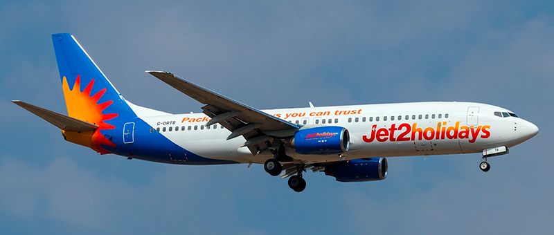Boeing 737-800 Jet2Com. Photos and description of the plane
