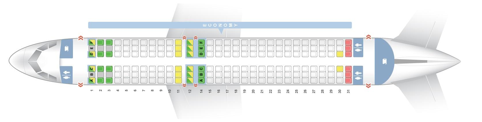 Seat Map Airbus A320 200 Quot Vueling Quot Best Seats In The Plane