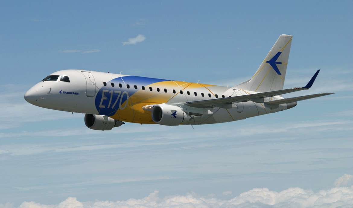 Michelin engineered new tyres for Embraer E170