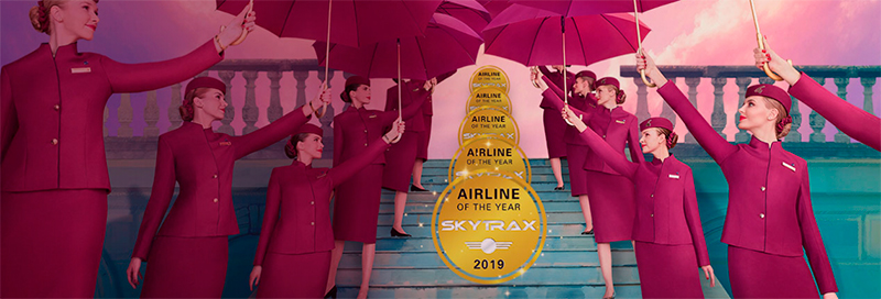 Rating of the best airline companies in the world 2019