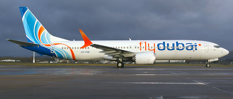 Boeing 737 Max 9 FlyDubai. Photos and description of the plane