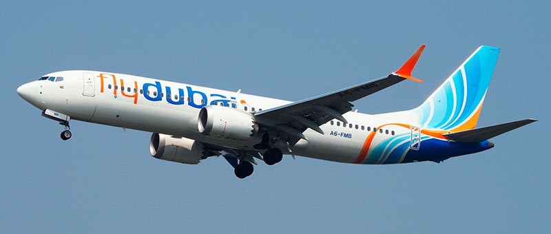 Seat map Boeing 737 Max 8 FlyDubai. Best seats in the plane