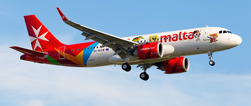 Seat map Airbus A320neo Air Malta. Best seats in the plane