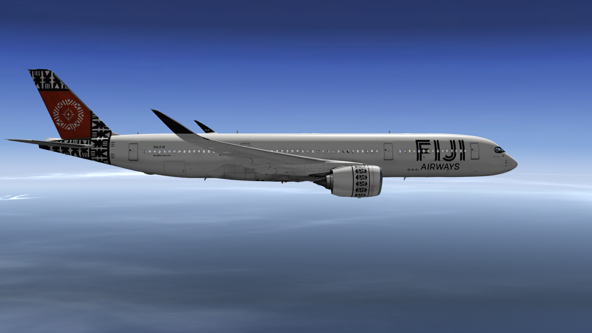 Airline Company Fiji Airways received first airplane Airbus A350