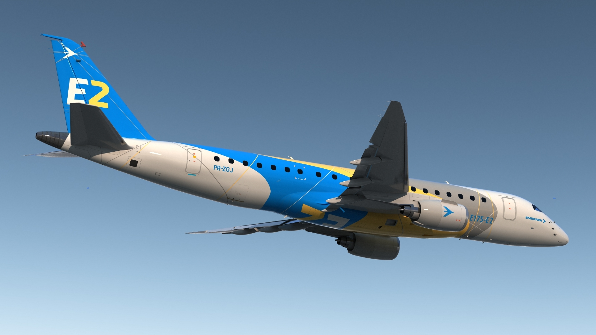 Embraer E175-E2 made first flight