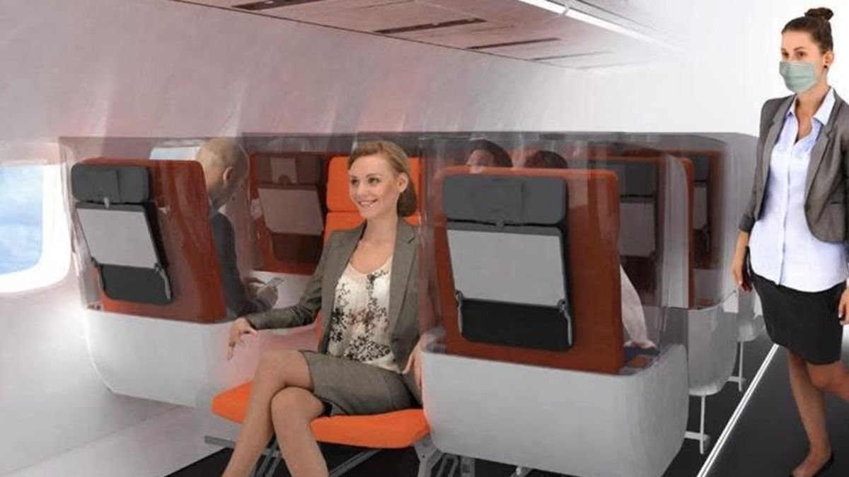 Italian designers created models of airplanes' cabins for the world after pandemic