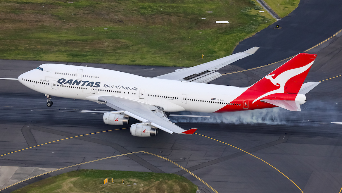 Australian airline company Qantas said goodbye to the airplanes Boeing 747. The last airplane showed kangaroo in the sky