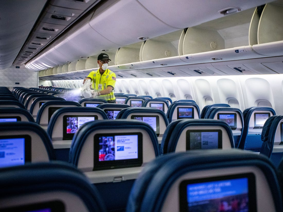 American airline company will install antiseptic stations on all airplanes