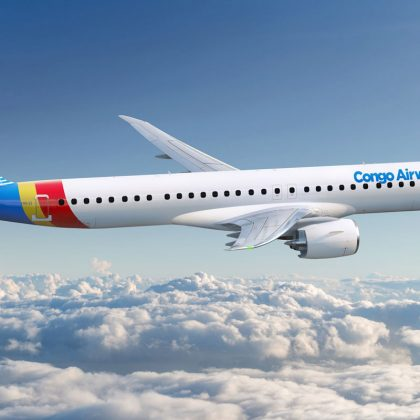 Airline company Congo Airways placed firm order for two airplanes Embraer E195-E2