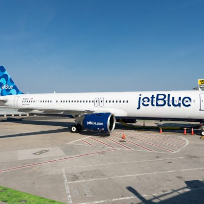 Airline company JetBlue received first airplane Airbus A321LR that allows company to open transatlantic route in the history. Part 1