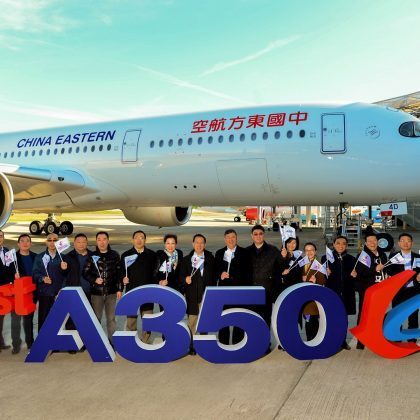 First Airbus A350 that received finishing in China was delivered to the customer