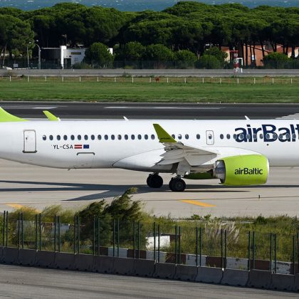 AirBaltic received 27th airplane Airbus A220-300