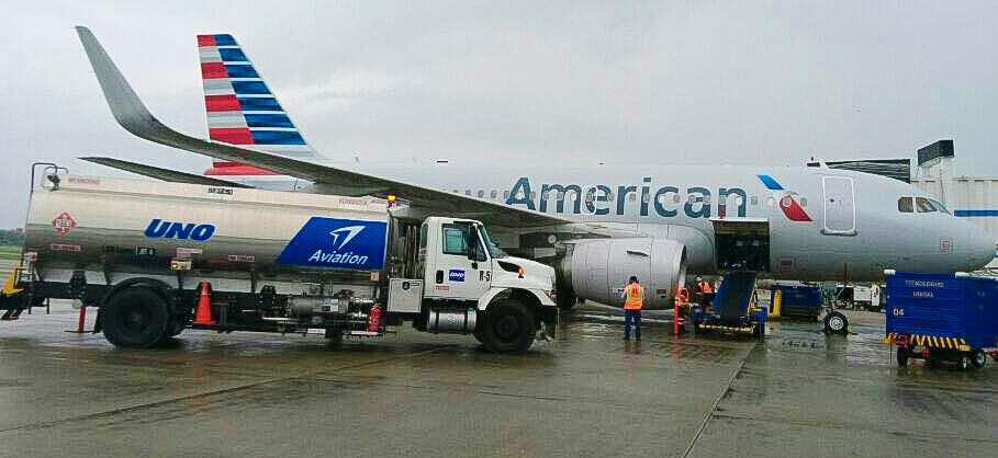American Airlines asked pilots to conserve fuel