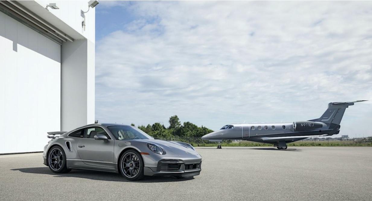 First airplane Embraer Porsche Duet Jet landed in Florida